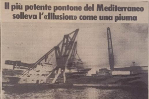 The most powerful pontoon in the Mediterranean lifts Illusion as a feather