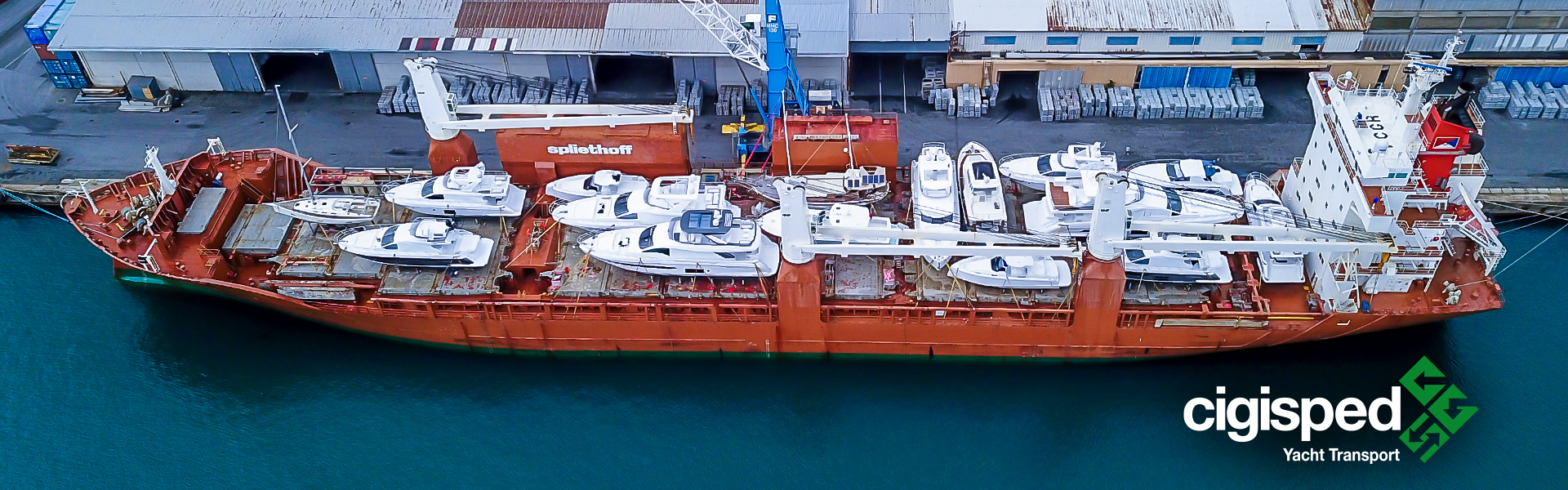 Yacht transport - Cigisped is a leading company in the yacht transport by sea, boat transport and yacht shipping