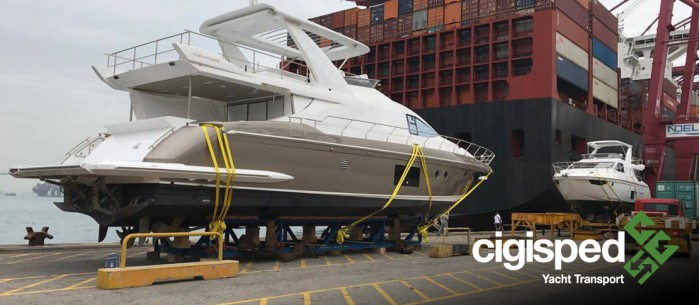Shipment of a motor yacht from Florida to Europe